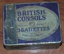 20's 30's British Consols 50 Cigarette Tin Nice Collector