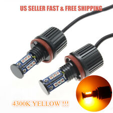 H8 120W High Power 4300K Yellow CREE LED Angel Eyes Halo Ring Light Bulb For BMW
