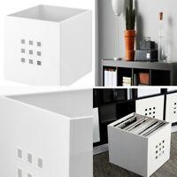 Ikea Lekman Box & Basket Home Office Storage Organiser For Paper Media White