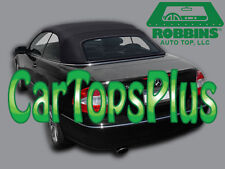 "2004-2009 Mercedes CLK Convertible Top Only, ""Robbins"" Black Twillfast Cloth"