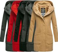 Marikoo Damen Business Mantel Trenchcoat winterJacke übergangsjacke wintermantel