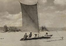 Herbert Rittlinger: Auslegerkahn der Philippinen. Vintage 1932, gestempelt