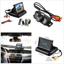 """12V Wireless Car License Plate Rearview Reverse HD Camera & 4.3"""" LCD TFT Monitor"""