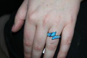 Nib Montana Silversmiths Western Ring Duel Waves JF Opal  #RG3803 SZ. 9 MSR $68