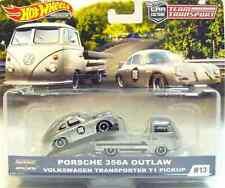 1:64 Mattel HOT WHEELS PORSCHE 356A OUTLAW / VW T1 PICKUP Team Transport #13