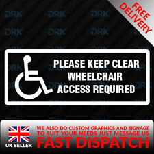 wheel chair access Blue Badge Car/Van/Truck/Bumper/Window Vinyl Sticker/Decal