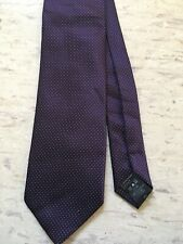"Cedarwood State dark purple small stitch pattern polyester tie 3 1/4"" wide"
