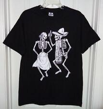 Dia De Los Muertos Day of the Dead Dancing Skeletons Novios T-Shirt Unisex M NEW