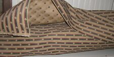 Vintage FABRIC  Upholstery   15 yards-JACQUARD Diamonds Federal  Stripes