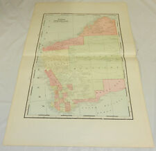 "1904 Antique Cram Color Map/West Australia, b/w Borneo & New Guinea/Large 14x22"""