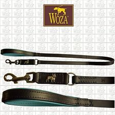WOZA Premium Hundeleine Französische Bulldogge Lederleine Vollleder Nappa E91183