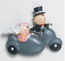 Bomboniera segnaposto calamita sposi in sidecar matrimonio segnaposto