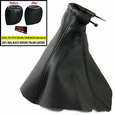 VECTRA C SIGNUM 2006-08 GEAR GAITER REAL BLACK LEATHER + KNOB COVER