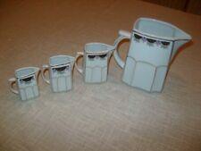 4 schöne Porzellan Kännchen mit Jugendstildekor 15cm 9,5cm 8cm 7cm