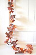 Herbstgirlande Herbstblätter Girlande rot  Dekogirlande Deko 78 Blätter 180cm