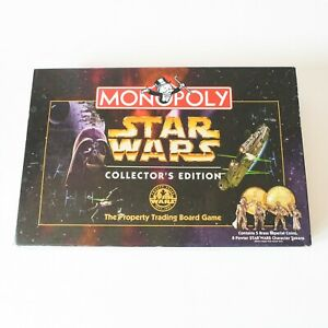 MONOPOLY Star Wars Collectors Edition Board Game - Pewter Metal Pieces Complete
