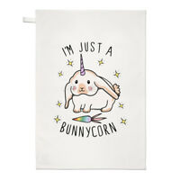 I'm Just A Bunnycorn Tea Towel Dish Cloth - Bunny Unicorn Rabbit Funny