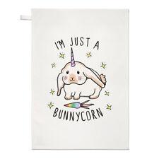 je suis juste un bunnycorn TORCHON CHIFFON DE VAISSELLE - Lapin Licorne drôle