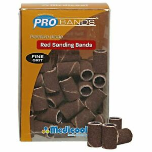 MEDICOOL® PRO BANDS™ Red Sanding Bands - Fine 100 pcs pack