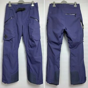 BLACK DIAMOND Ski Snowboard Pants Size M Mens Blue Gore-Tex Primaloft Insulated