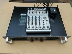 Prosound 800 Rack Mount Power amplifier with Behringer Eurorack UB802 mixer