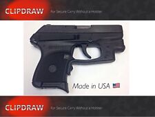 RUGER LC9S / PRO CLIPDRAW Holster Belt Pant Clip Conceal Carry Black #LC9S 9