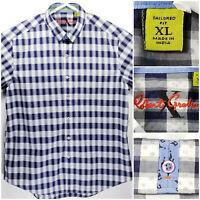 Robert Graham Mens XL Tailored Fit Shirt Short Sleeve Button Up