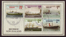 Ships, Boats Sheet New Zealand Stamps