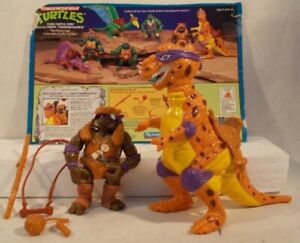 Teenage Mutant Ninja Turtles Cave Turtles Don & Trippy T-Rex TMNT 1993 Complete