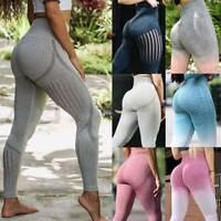 Women Seamless Leggings Yoga Pants High Waist Push Up Fitness Sports Gym Running