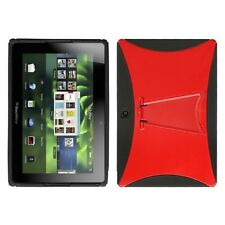 Red/Black With Stand Gummy Protector Cover Case for BlackBerry Playbook
