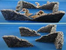 4X unpainted Damaged Brick Corners For 28mm 1.35, 1.32 scale.  diorama, scenery