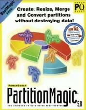 PartitionMagic 5 PC CD manage resize merge hard drive partitions data tools! 5.0