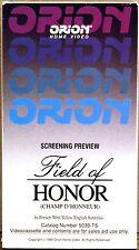 SEALED SCREENER VHS Champ D'Honneur (Field of Honor) CAMPION Denis 1987 5039-TS