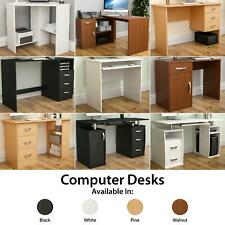 More details for computer desk drawer shelves laptop pc table home office study workstation