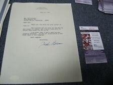 John Glenn Autograph Hand Signed Letter JSA Certified