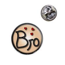 Bro Brother Love Hearts Lapel Hat Tie Pin Tack