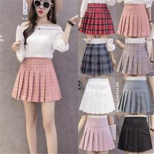 Fashion Women's High Waist Casual Pleated Tennis Style Mini Skater Skirt