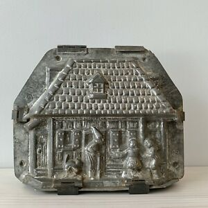 Antique Vtg Chocolate Mold Van Emden BIG Hansel Gretel Witch House