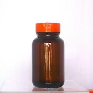 Amber Brown Glass Jars 5.072 ounces + Orange Flip Top CAP Lid -150 CC
