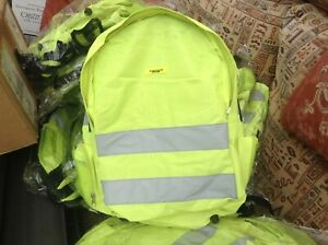 hi viz vis rucksack backpack work school cycling reflective bag hiking walking