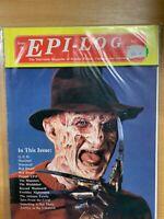 """JULY 1991 """"EPI-LOG"""" MAGAZINE #8 - TV SCI-FI FANZINE - FREDDIE KRUGER COVER (P3)"""