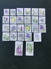 Ireland.    25 Wild  Flower Stamps From Ireland. Fine Used. As Scan.