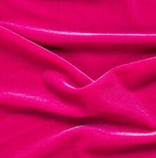 Fuchsia Spandex Stretch Velvet fabric  yard clothing dress