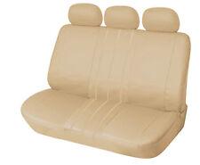 PU Leather Rear Seat Covers SUV Truck Van Sedan Bucket Seat 155 Tan