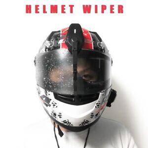 Motorcycle Helmet Windshield Electric Wiper IP5 Waterproof Charging Dual Gear