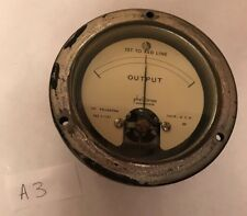 Vintage Phaostron Ruggedized Output Gauge Meter 3-1107 Military Steampunk A3