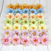 10-100PC Artificial Fake Flower Silk Rose Buds Head Wreath Wedding Bouquet Decor