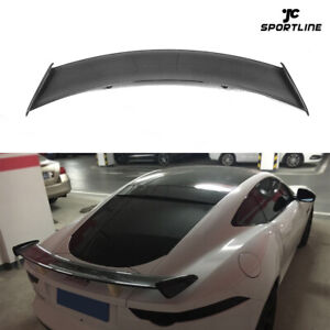 For Jaguar F-TYPE Coupe Rear Trunk Spoiler Racing Boot Wing Carbon Fiber 14-18