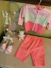 Vintage New ~ Carter'S Classics 4 Pc Outfit ~ 6/9 Months ~ Child Or Himstedt ~